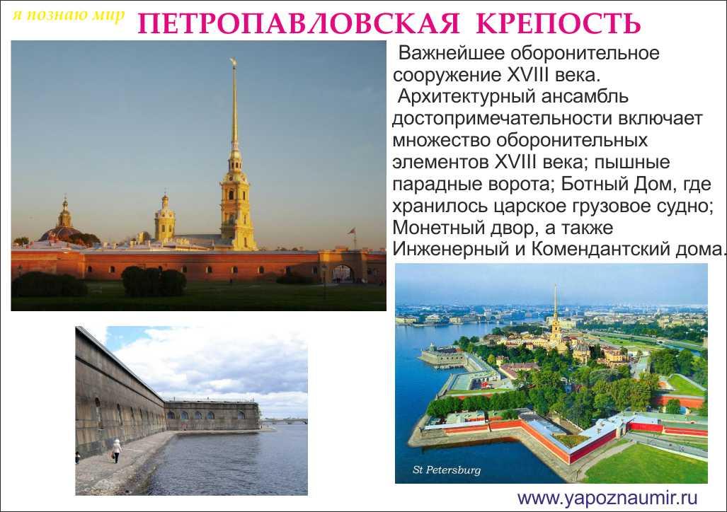 доклад достопримечательности санкт петербурга