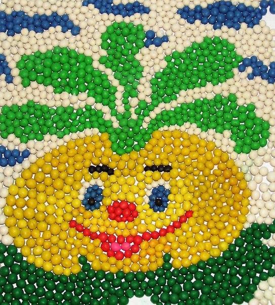 Поделки детская мозаика