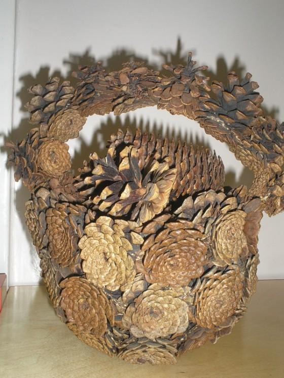 Поделки из природного материала корзина
