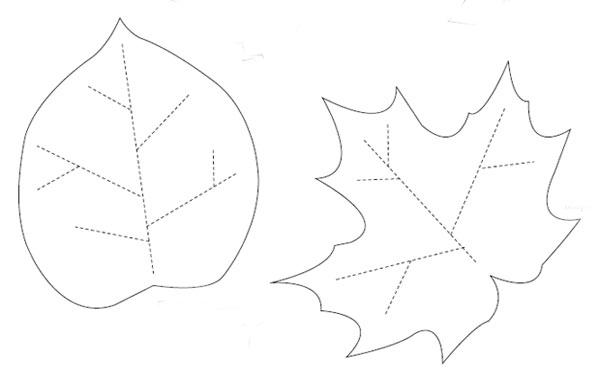 Листья из фетра своими руками выкройки 14
