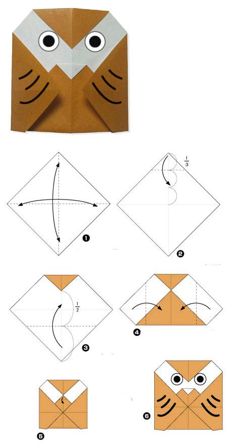 Лёгкие поделки оригами