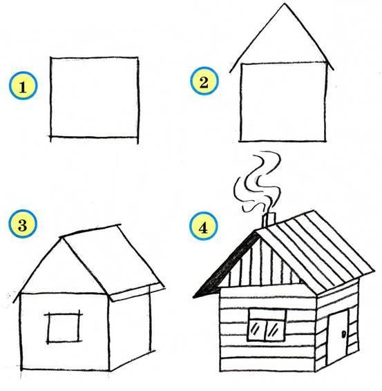 Нарисовать дом своими руками